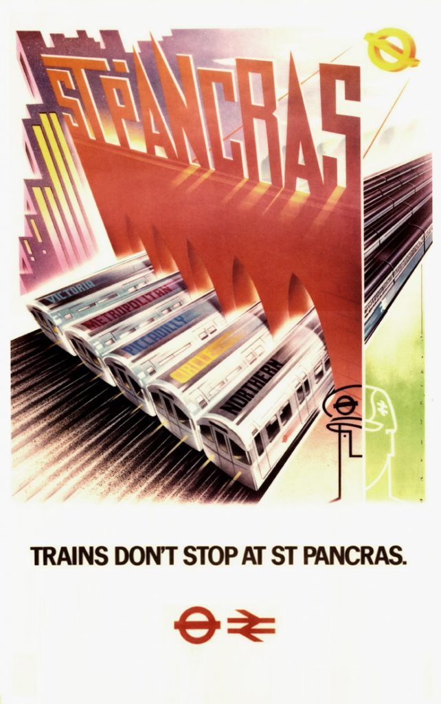 St Pancras poster