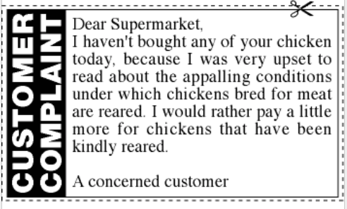 RSPCA complaint coupon